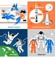 Astronauts 2x2 Design Concept vector image