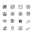 market store element black icon set vector image