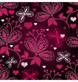 purple seamless valentine pattern vector image vector image