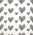 graphic pattern of hearts vector image