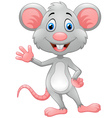 Cartoon rat waving hand vector image