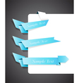 blue origami ribbons vector image vector image