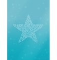 Water background with star shape bubbles vector image vector image