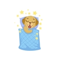 Puppy Sleeping In Bed vector image