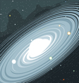 View of the galaxy in space with stars and planets vector image