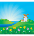 Rural background vector image vector image