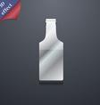 bottle icon symbol 3D style Trendy modern design vector image