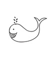 Doodle fish animal icon vector image