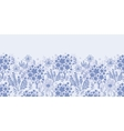 Evening garden horizontal seamless pattern vector image