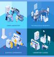 laboratory isometric design concept vector image