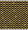 Pattern in zigzag Classic chevron gold glitter vector image