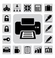 Business and office icons set eps 10 vector image vector image