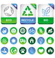 ecology infographics elements vector image vector image