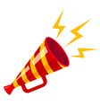 megaphone yellow strip red isolated vector image vector image