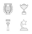 cupwineer cup set collection icons in outline vector image