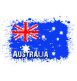 flag of australia from blots of paint vector image