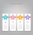 infographics template of four steps on squares vector image