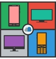 Flat icons vector image vector image