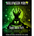 Halloween Night Event Flyer Party template vector image