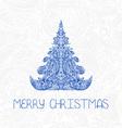 christmas tree New Year card vector image