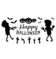 happy halloween poster black vector image