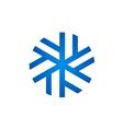 ice flower freeze logo vector image