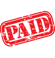 Paid stamp vector image