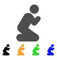 pray pose icon vector image
