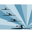 rowing with background - vector image