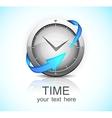 Clock with arrow vector image vector image