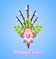 Happy Easter bouquet vector image vector image