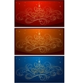 set of christmass backgrounds vector image