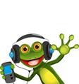 Frog In Headphones vector image