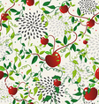 Red apple food seamless pattern vector image vector image