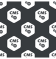 Black hexagon CMS settings pattern vector image