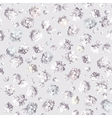 Gypsophila seamless pattern white vector image