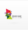 abstract triangle colorful logo design vector image