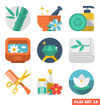 Beauty and Spa Flat icons vector image
