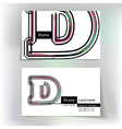 Business card design with letter D vector image