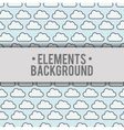 clouds background elements design vector image