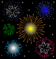 Colorful Firework set vector image