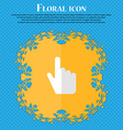 cursor Floral flat design on a blue abstract vector image