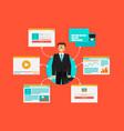 online banking vector image