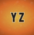 Sport Style Font from Y to Z vector image