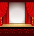 theatrical scene with white a stand vector image