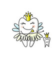 tooth fairy sketch for your design vector image