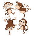 Four monkeys vector image