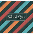 thank you card stripes background vector image