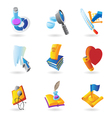Icons for science and education vector image vector image