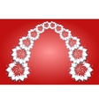 White flowers on red background vector image vector image